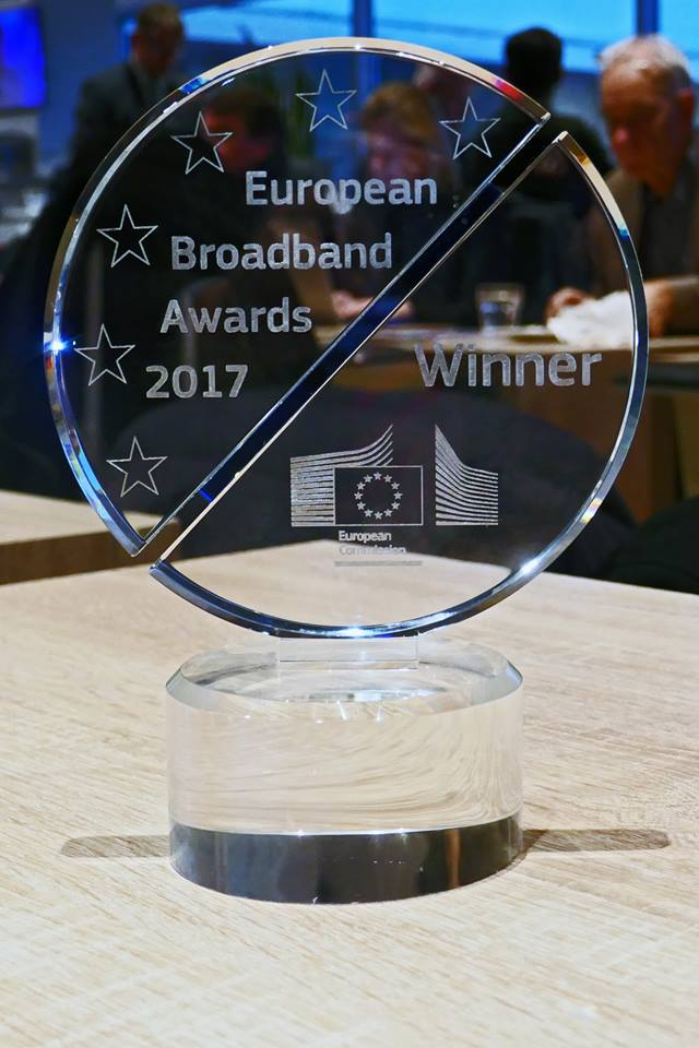 Winners of the European Broadband Awards 2017
